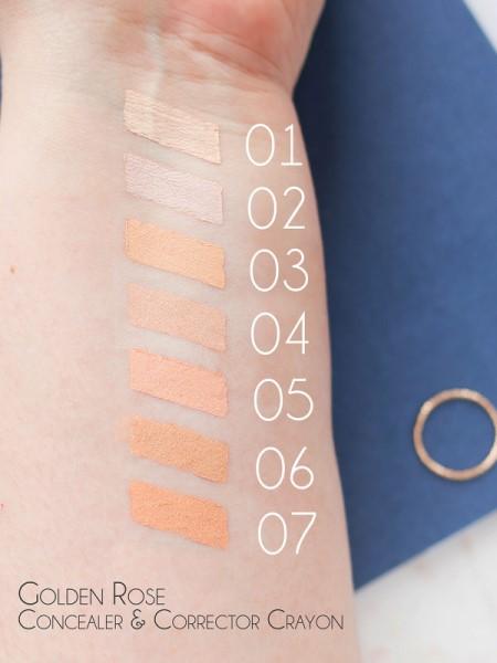 Golden-Rose-foundation-concealer-concealer-corrector-crayon-kleuren-trendyhairandwellness